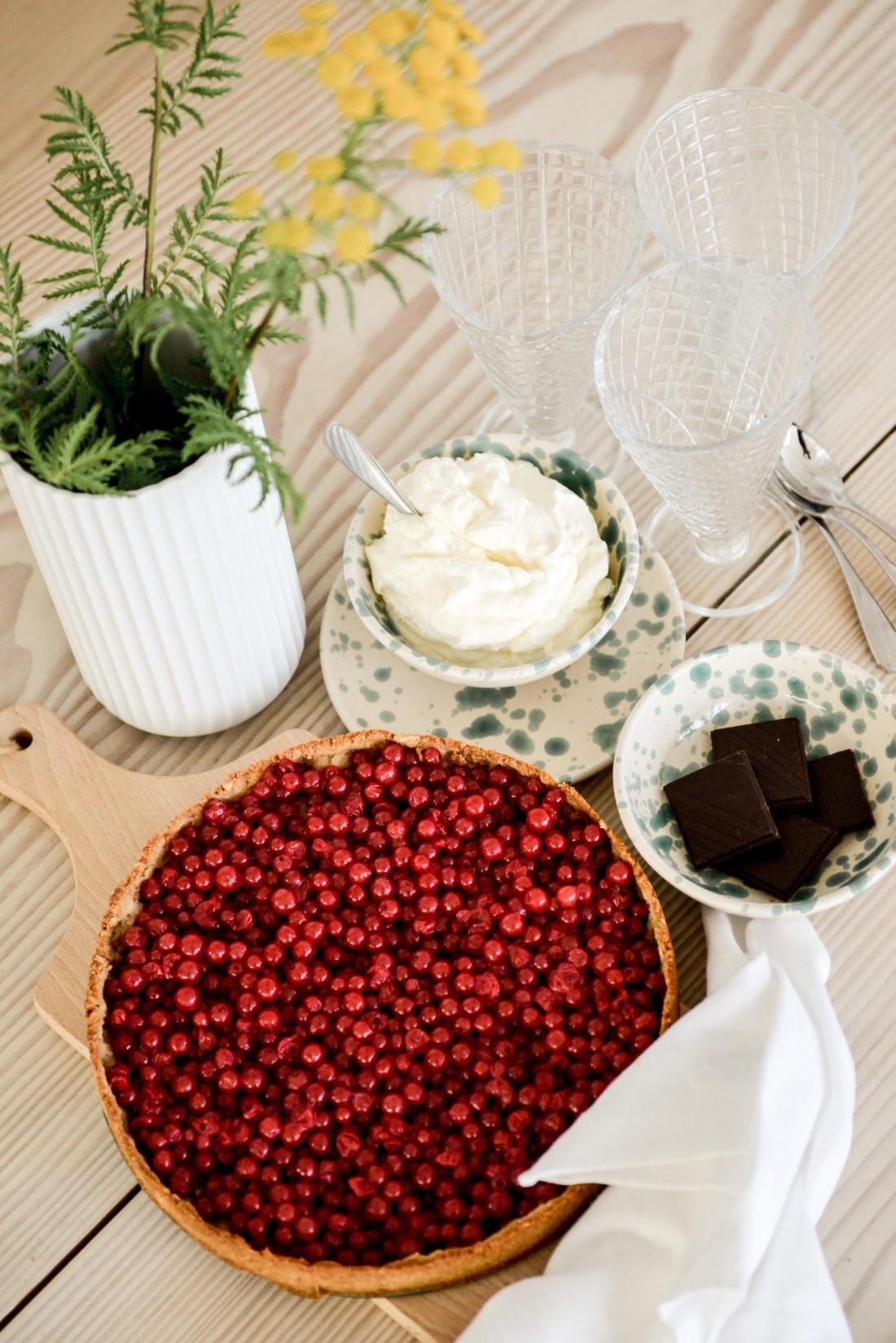 rödvinbärspaj